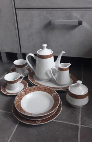 Porcelana polska WARIS serwis obiadowo-kawowy 64el.
