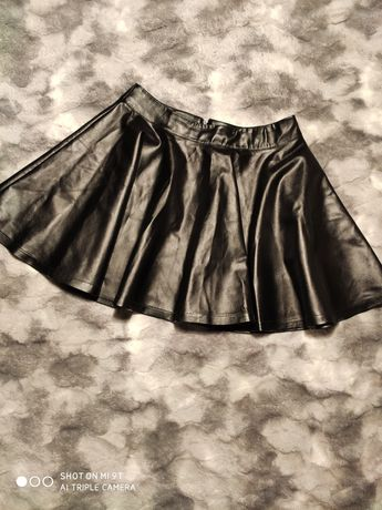 Базовая юбка солнцеклеш экокожа