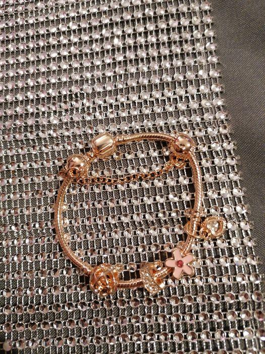 Bransoletka 18cm próba 925 styl Pandora plus charmsy próba 925 Zawiercie - image 1
