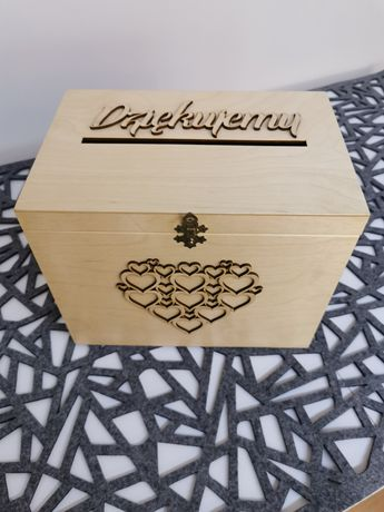 Pudełko na koperty i pamiątki ( ślub, chrzest)