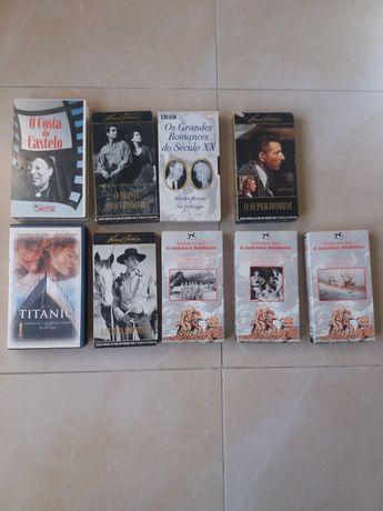 Lote de 9 cassete VHS original