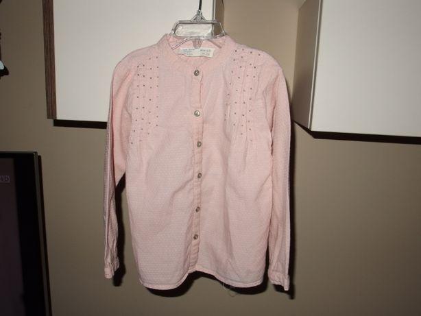 Zara koszula dziewczęca pudrowy róż 110 cm 4 / 5 lat