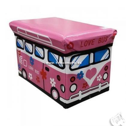 Caixa de Arrumação Pão de Forma - Nova - Rosa ou Azul