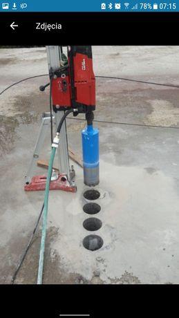 Wiercenie otworow. Przewierty w betonie.ciecie betonu. Hilti