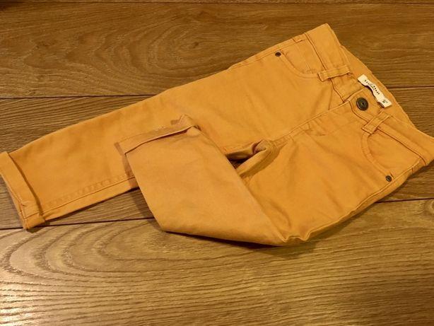 Spodnie jeansy musztardowe dla dziewczynki NAME IT rozmiar 86