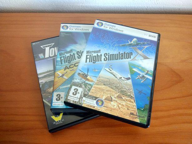 Microsoft Flight Simulator X + Acceleration Pack + Tower Simulator