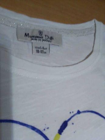 T-shirt branca com estampado Massimo Dutti