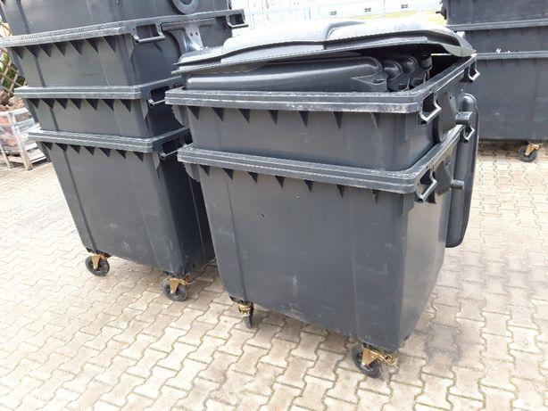 Pojemnik na śmieci 1100l czarny na kółkach nowy - faktura VAT