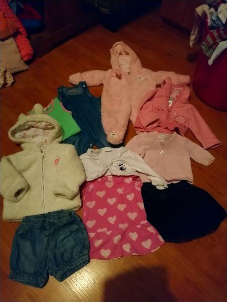 Komplet ubran dla dziewczynki r 62-68 handmade zestaw zara c&a