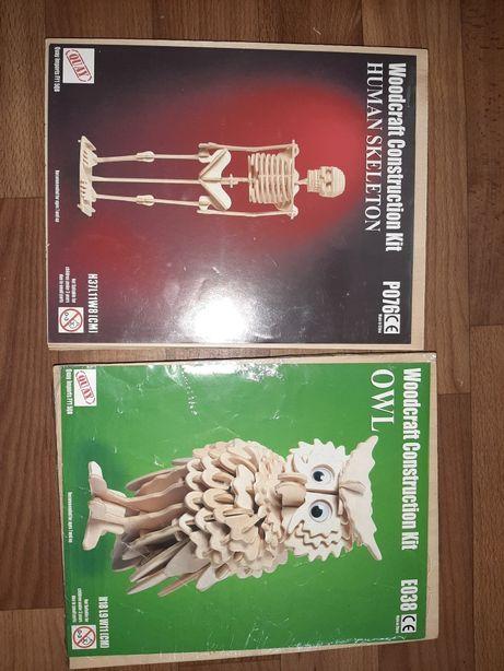Деревянный конструктор, совушка, сова, скелет