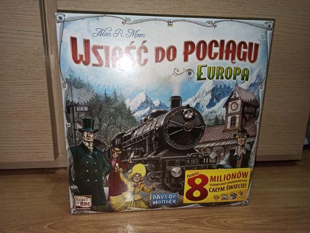 Wsiąść do pociągu: Europa [PL] - gra planszowa [W FOLII]