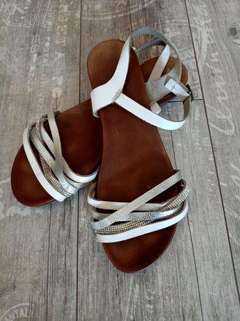 Skórzane sandałki Okazja !