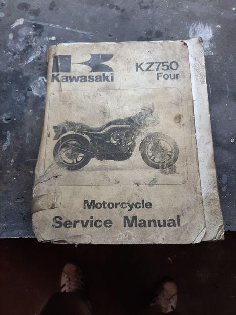 Książka serwisowa kawasaki KZ750 four