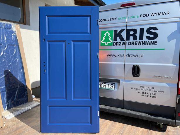 Drzwi drewniane wewnątrzklatkowe antywłamaniowe Cały Kraj - OD RĘKI