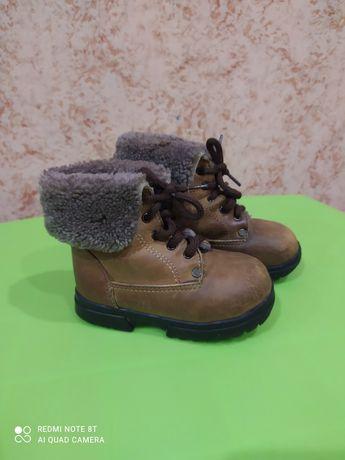 Зимние ботинки, натуральная кожа и мех, размер 24