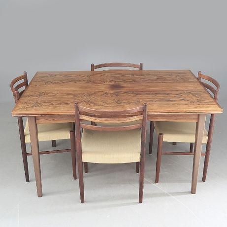 WYJĄTKOWY Stół i cztery krzesła DUŃSKI