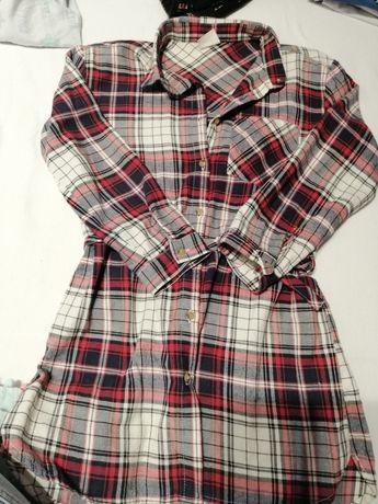 Zara 122 koszulowa sukienka