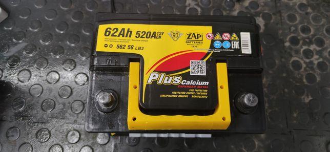 Akumulator  ZAP 62Ah 520A P+ sprawny