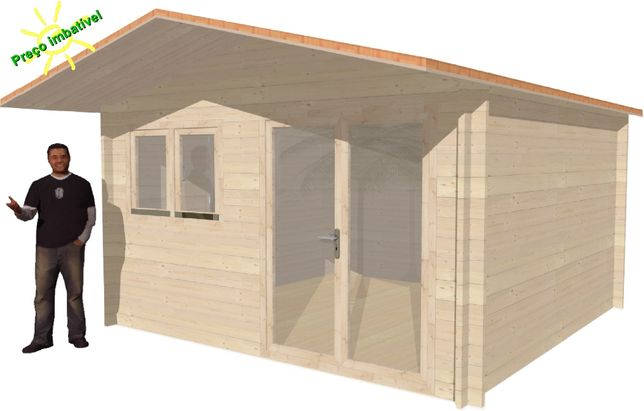 Casa Madeira MINIKIT - 4x4 m - 16 m² / Casas prefabricadas econômicas