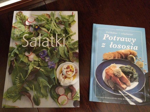 Sałatki i Delikatnie i Szlachetne potrawy z Łososia 2 książki