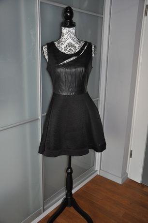 Sukienka czarna skóra