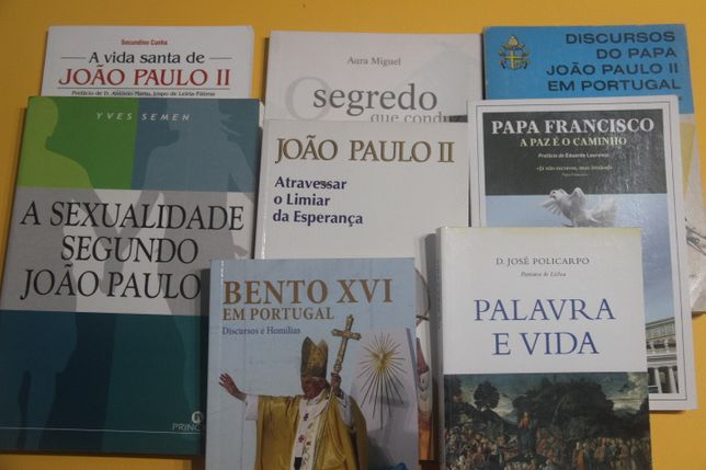 Livros: Papa João Paulo II/ Francisco/Bento XVI