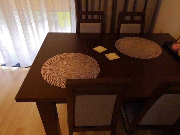 Stół drewniany dębowy + 4 krzesła