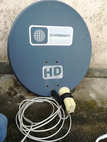 Antena Polsat satelitarna, uchwyty, kabel