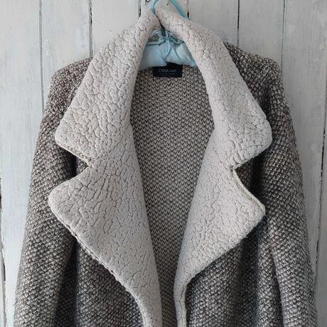 Szary sweter długi Zara oversize