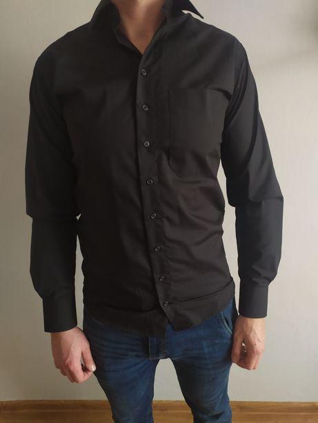 Elegancka czarna koszula rozm M