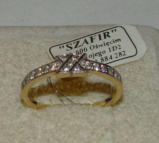 TANIO ! Złoty pierścionek próby 585 14karat-Firma Szafir-Wzór 150