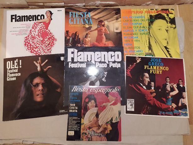 Zbiór 7 płyt winylowych z gatunku muzyki Flamenco