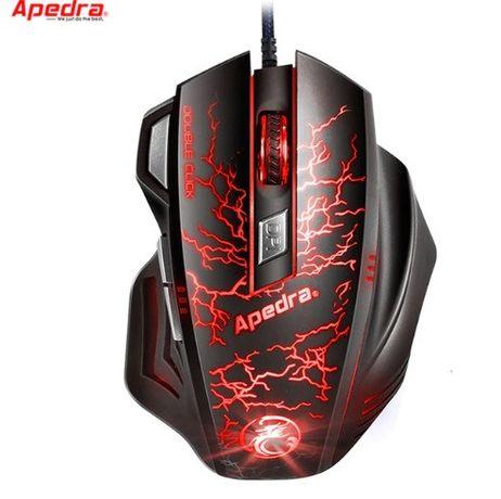 Профессиональная геймерская мышь LED A7 Apedra с подсветкой