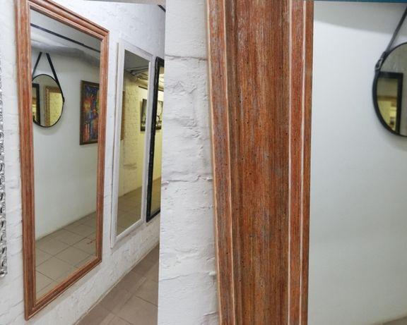 Зеркало настенное в деревянном багете 80х175 см
