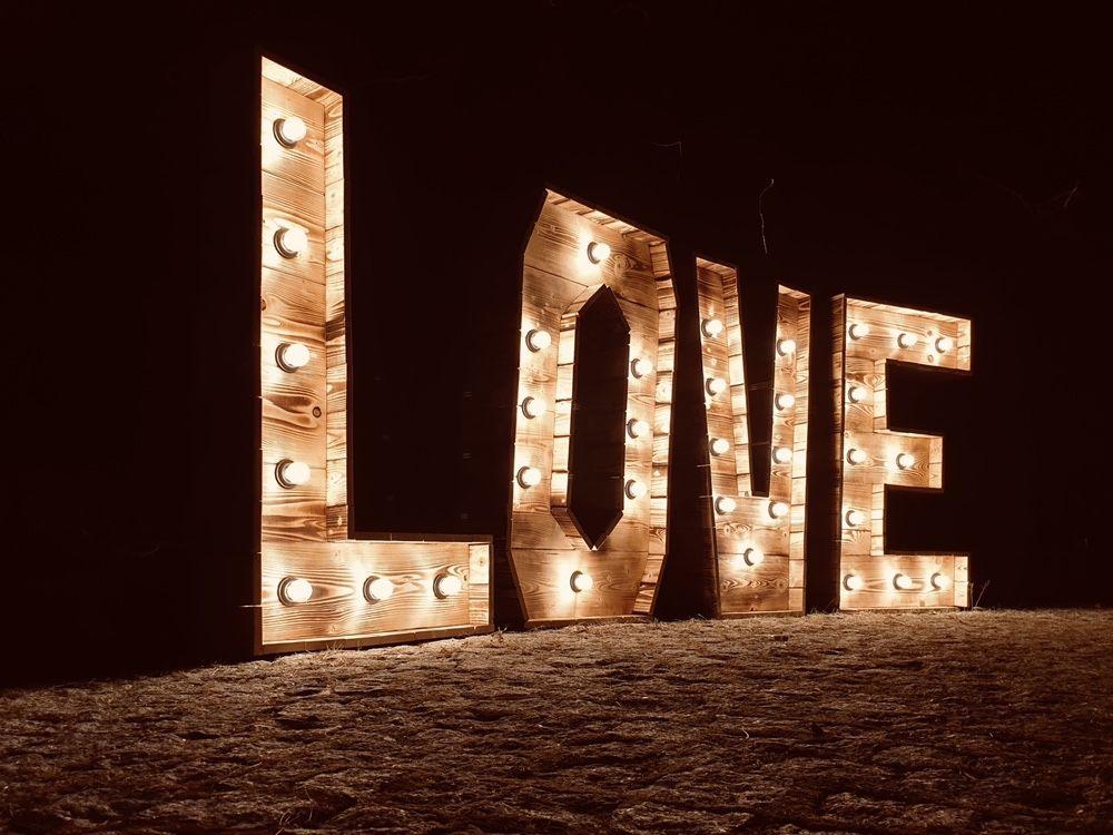 Napis Love Rustykalny Na Twoje Wesele