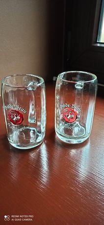 Kolekcja szklanek i kufli.