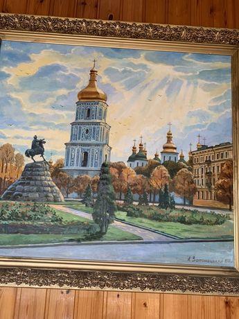 Картина «Софийская площадь» А. Затонацкий