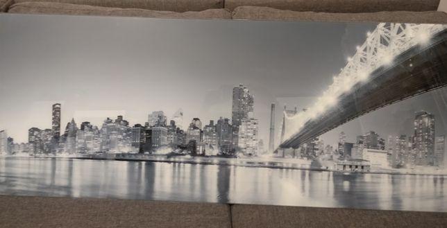 Obraz szklany - Most Brooklyn nocą