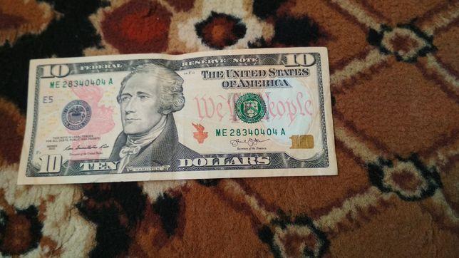Бон 10 доларів