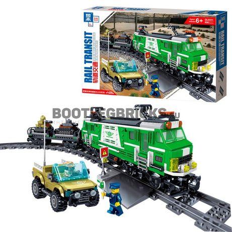 Конструктор Грузовой военный поезд QL0311 890 шт. Лего Lego аналог