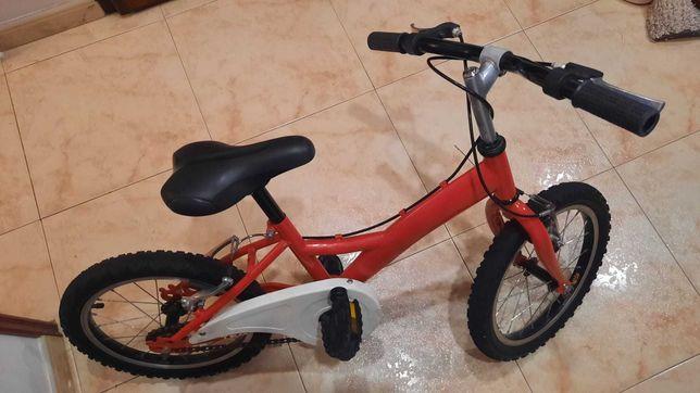 Bicicleta Criança Roda 16'' - Vermelha