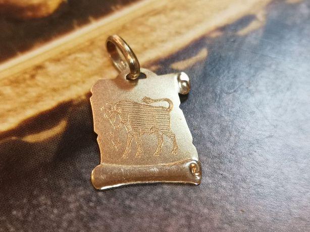 K. złota zawieszka BYK, zodiak, złoto 585
