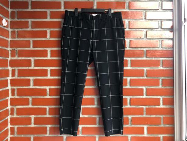 Bershka Cropped мужские брюки кюлоты по типу Мом размер 34 бершка б у