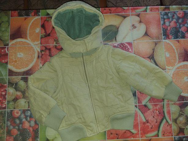 Куртка 2в1 жилетка на мальчика 104см деми