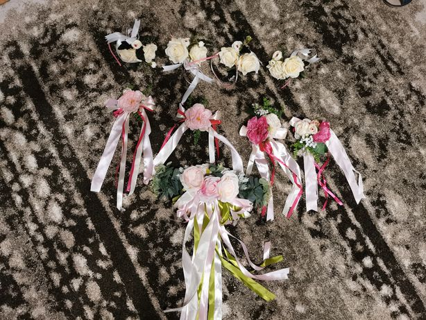 Kwiatki na auto / motocykl. Wesele. Ozdoba