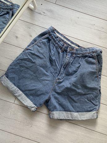 Jeansowe spodenki z wysokim stanem