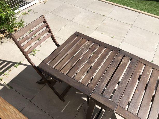 Mesa e 2 cadeiras ÄPPLARÖ IKEA