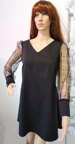 Sukienka krótka czarna produkt POLSKI r. 38 M