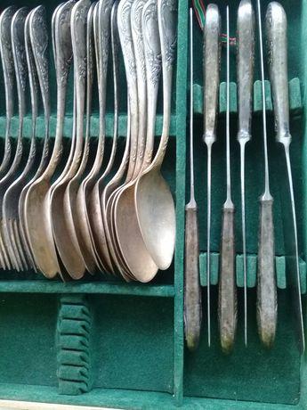 Столовые ложки , вилки , ножи - все мельхиор