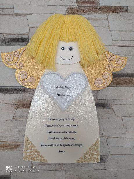 Anioł Stróż do pokoju dziecięcego rękodzieło prezent